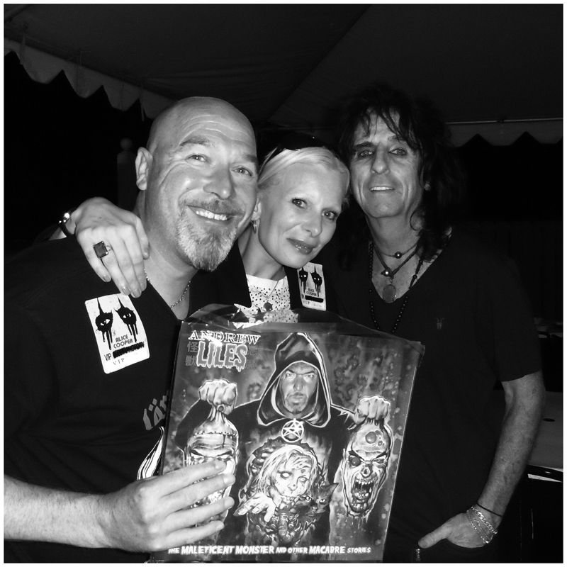 With Alice Cooper: Irvine, CA, USA - July 2014.