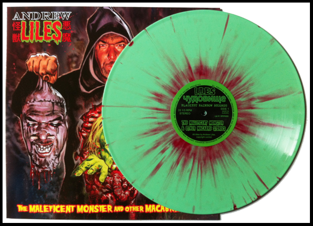 Slime Green and Blood Splatter vinyl.