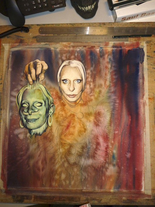 Graham Humphreys. Art progress 3..