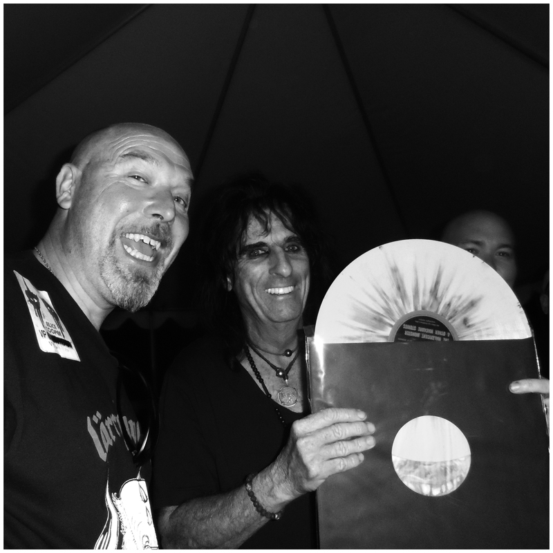 With Alice Cooper: Irvine, CA, USA - July 2014.