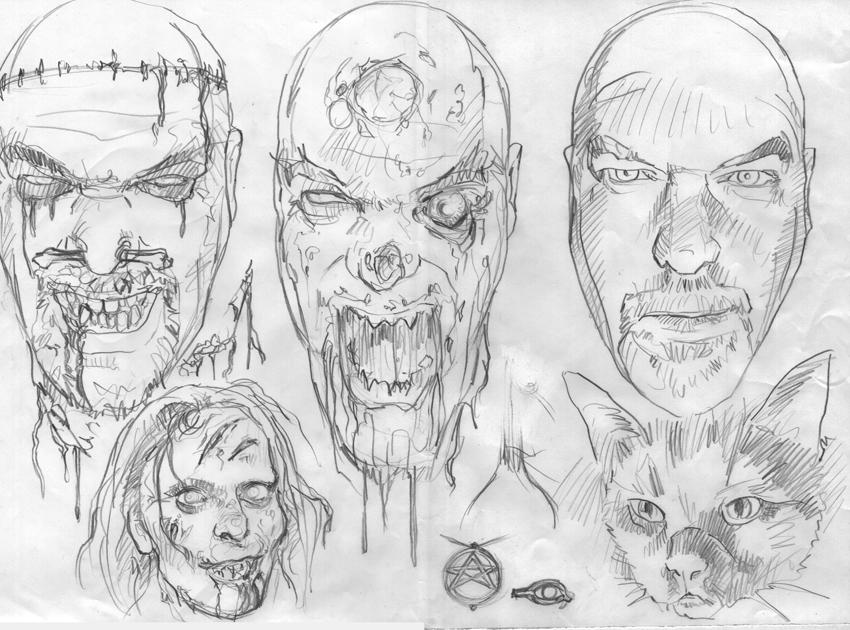 Graham Humphreys. Preliminary sketch.