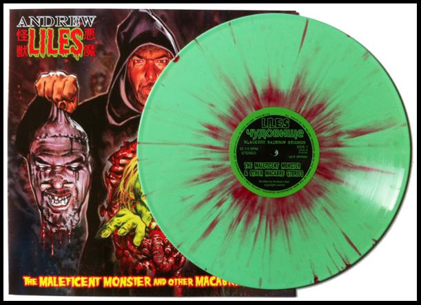Slime Green and Blood Splatter vinyl.