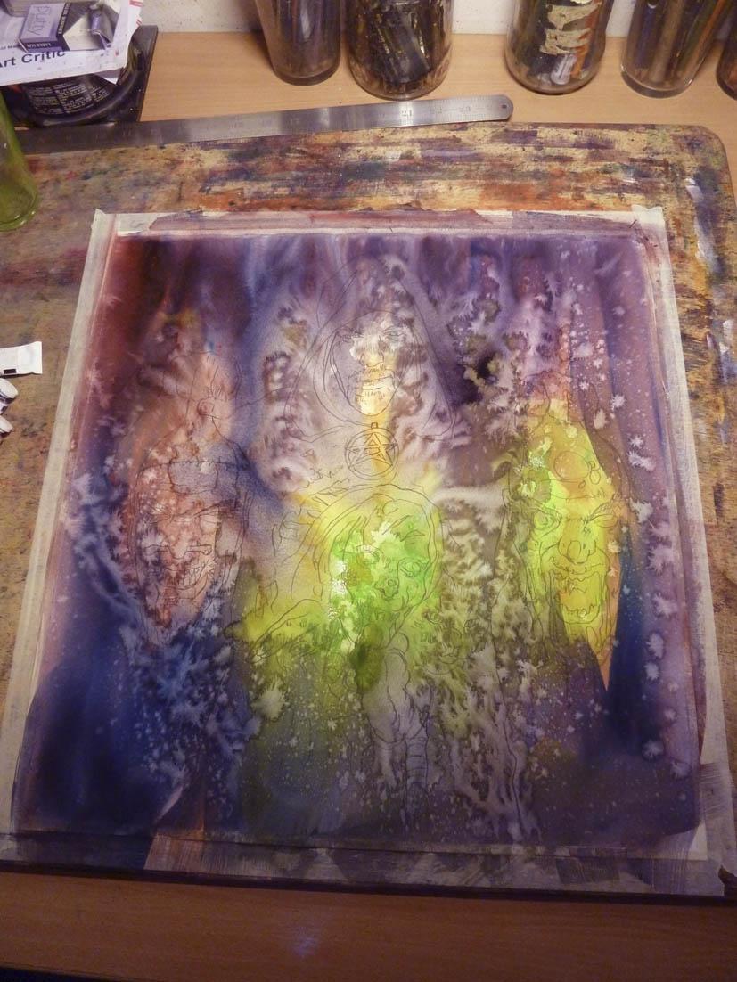 Graham Humphreys. Art progress 2.