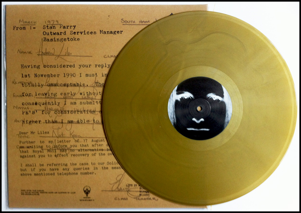 Gold vinyl. Edition of 400 copies.