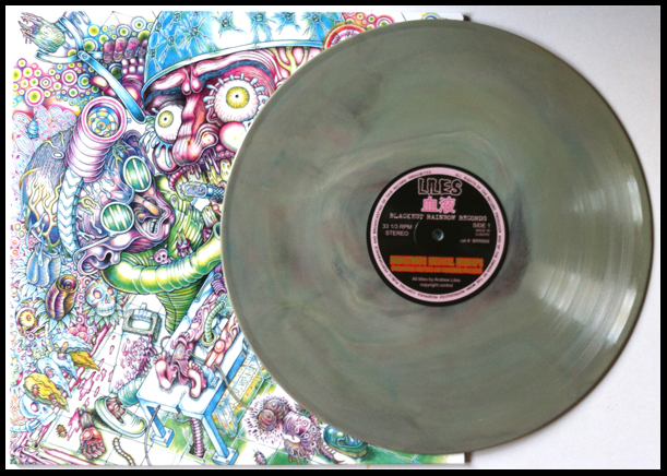 'Tapeworm' version, pressed on a slightly marbled grey coloured vinyl. Edition of 76 copies.