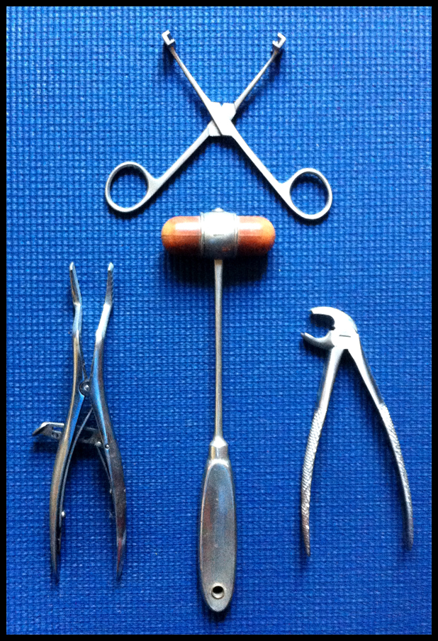 Medical instruments that were sampled for use in the construction of rhythm tracks.