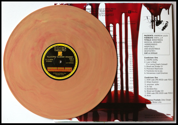 'Earwax' version, pressed on a marbled burnt orange coloured vinyl. Edition of 38 copies.