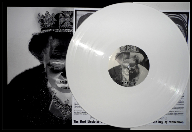 White vinyl L.P.